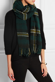 Étoile Isabel Marant Carlton checked wool-blend scarf