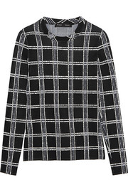 Proenza Schouler Plaid stretch-knit top