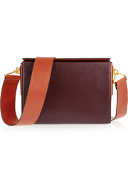 Box two-tone leather shoulder bag