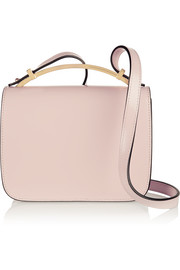 Marni Sculpture small glossed-leather shoulder bag