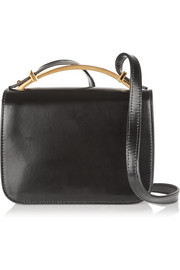 Sculpture small glossed-leather shoulder bag