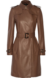 Cullingham leather trench coat