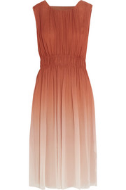 Burberry London Dégradé silk-georgette dress