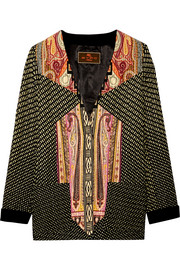Printed ribbed satin jacket