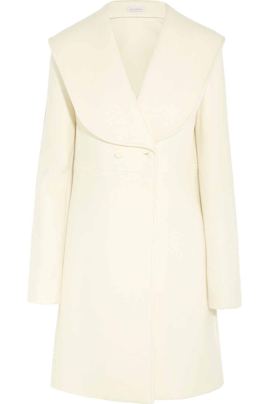 J.W.Anderson Wool and Mohair-Blend Felt Coat, Cream, Women's, Size: 12