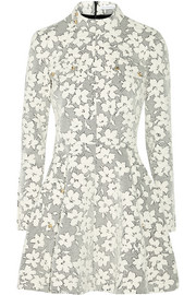 J.W.Anderson Floral cotton-blend cloqué mini dress