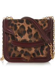 Alexander McQueen The Heroine mini calf hair and leather shoulder bag