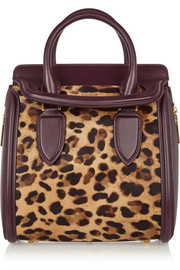 The Heroine small leather and leopard-print calf hair tote