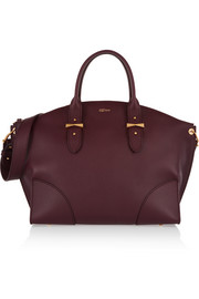 Alexander McQueen Legend large textured-leather trapeze tote