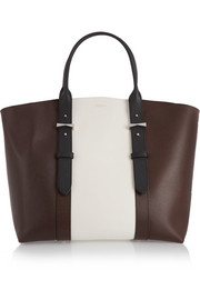 Legend large textured-leather tote