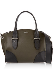 Legend small textured-leather shoulder bag