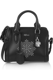 Alexander McQueen Padlock mini studded leather shoulder bag