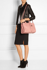 Padlock small textured-leather shoulder bag