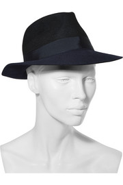 Two-tone rabbit-felt fedora