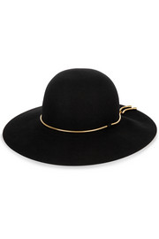 Lanvin Snake chain-trimmed rabbit-felt hat