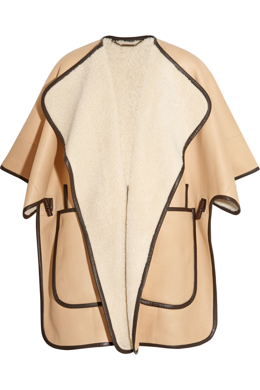 Chloé Shearling cape