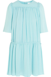 Chloé Silk-cloqué mini dress
