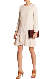 Chloé Paneled crepe mini dress