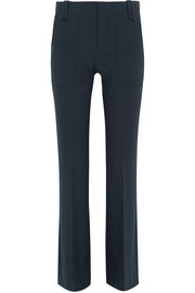 Stretch-wool flared pants