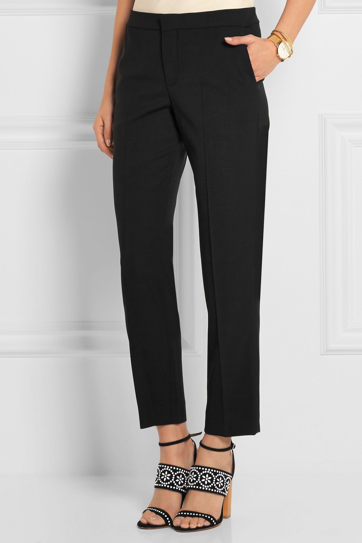 Chloé Iconic stretch-wool straight-leg pants
