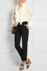 Iconic stretch-wool straight-leg pants