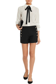 Stretch-wool gabardine shorts