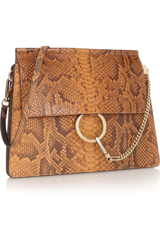 Chloé Faye python shoulder bag