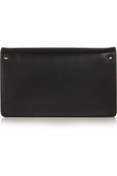 bag cloe - Chlo��   Gabrielle leather and suede clutch   NET-A-PORTER.COM