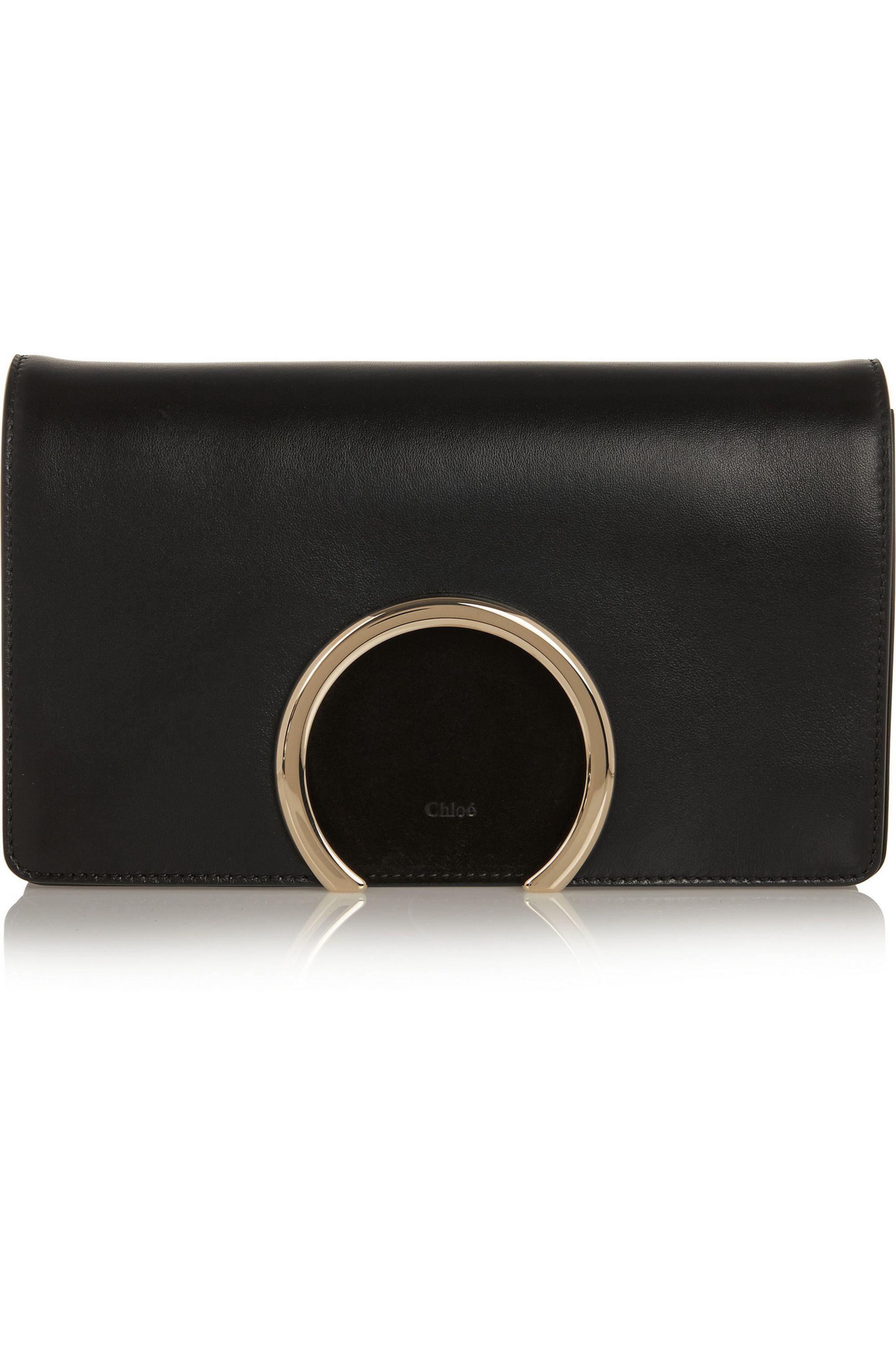 Chloé Gabrielle leather and suede clutch
