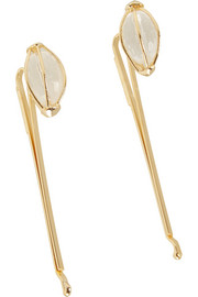 Tiana gold-tone rock crystal hair slides