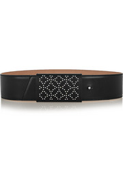 Arabesque studded leather belt