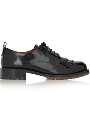 B-Formal patent-leather brogues