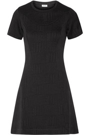 Stretch-jacquard mini dress