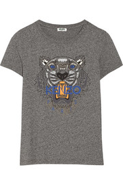 Tiger printed cotton-jersey T-shirt
