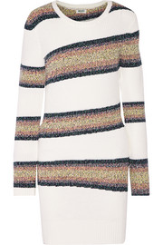 Striped wool-blend sweater dress