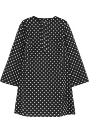 Polka-dot cotton-voile dress