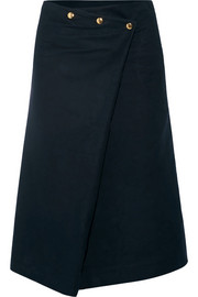 Felted-cotton skirt