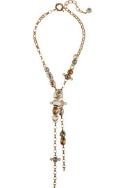 Lanvin Gold-tone Swarovski crystal necklace