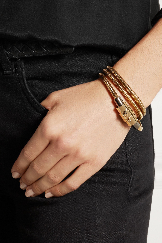 Lanvin Gold-tone snake bracelet