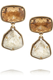 Lanvin Gold-tone Swarovski crystal clip earrings
