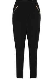 Tailored pants in black stretch-cady