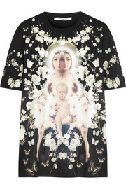 Flower Madonna T-shirt in printed cotton-jersey