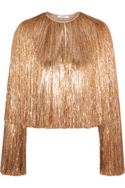 Givenchy Fringed jacket in gold silk-satin
