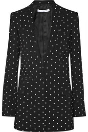 Blazer in cross-print black cady