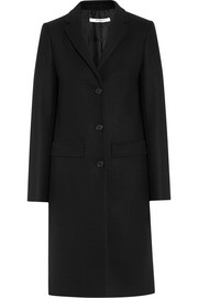 Coat in black wool-blend felt