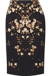 Givenchy Tubino pencil skirt in printed crepe