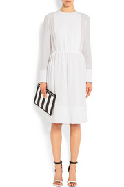 Givenchy Pleated dress in white silk crepe de chine
