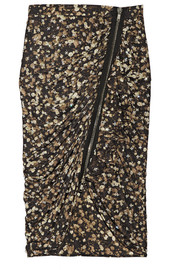 Printed jersey skirt with crystal embellishments