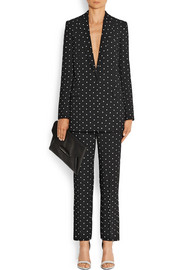 Givenchy Straight-leg pants in cross-print black cady