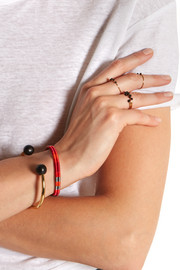Isabel Marant Set of two gold-plated, cotton and bead bracelets